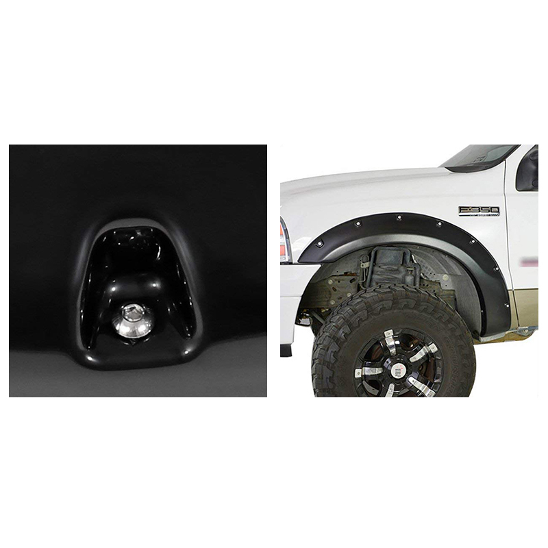 Ford Super Duty F-250 / F-350 1999-2007 ABS Pocket Rivet Style Wheel Well Body Fender Flares Trim