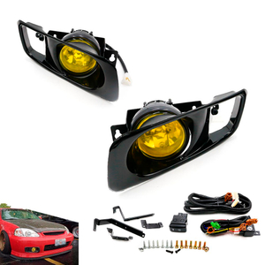Yellow Len Front Driving Fog Lamp Fog Lights For Honda Civic 99-00